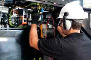 Manutenção em gerador de energia