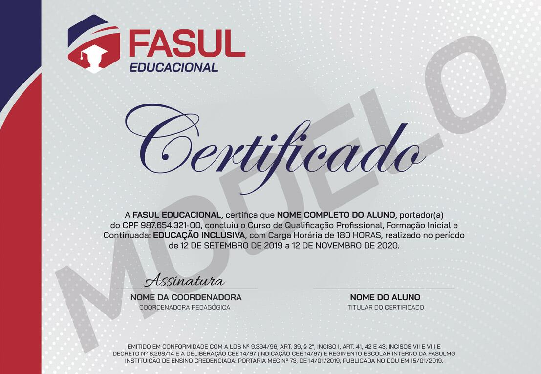 Certificado Frente